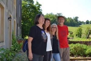 Hilde met Phyllis, Kathy en Frank